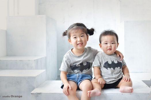 家族写真 ツーショット 私服写真 お誕生日 バースデー Tシャツ
