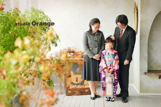 奈良店 スタジオ 写真館 七五三 和装 着物 家族写し