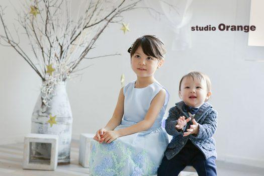 奈良店 バースデー 誕生日 ドレス スーツ 洋装 姉弟写し 2人写し