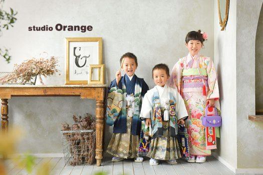 奈良店 七五三 和装 女の子 男の子 姉弟写し