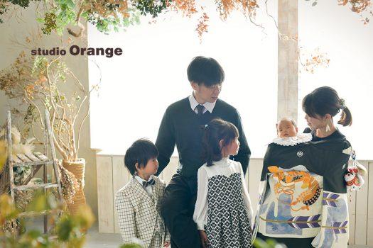 奈良店 お宮参り 和装 男の子 家族写し