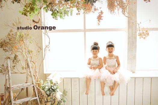 奈良県 バースデー お誕生日 洋装 姉妹写し