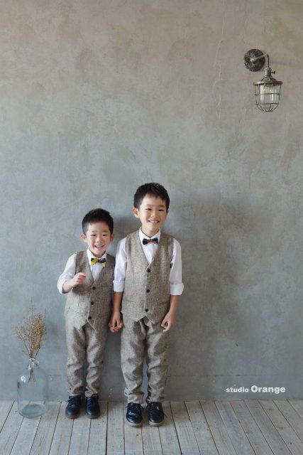 七五三 スーツ 洋装撮影 スタジオオレンジ 奈良市写真館
