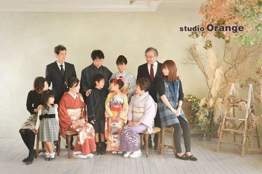 奈良店 家族写し 和装 日本髪 着物 大家族 三世代