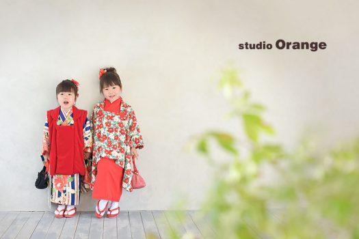 奈良店 スタジオ 写真館 和装 兄弟写し 姉妹写し 着物