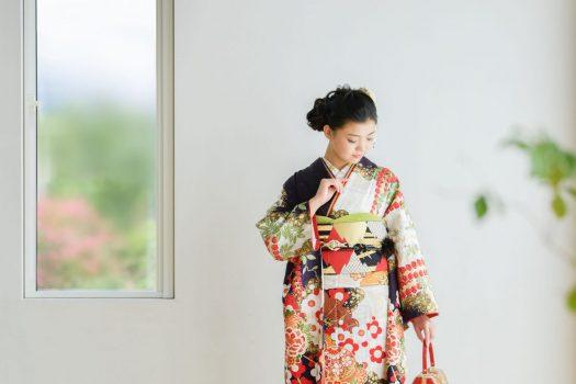 奈良市 レンタル振袖 成人式 成人式前撮り 成人式後撮り 紫の振袖