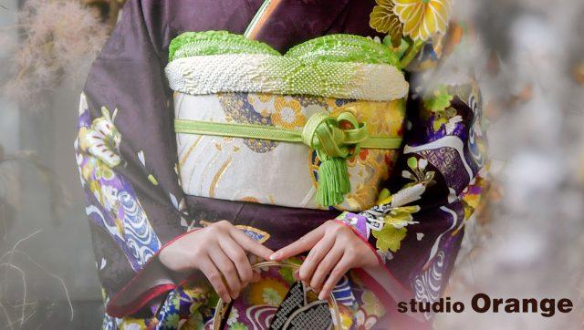 奈良市 レンタル振袖 成人式 成人式前撮り 成人式後撮り 小豆色の振袖
