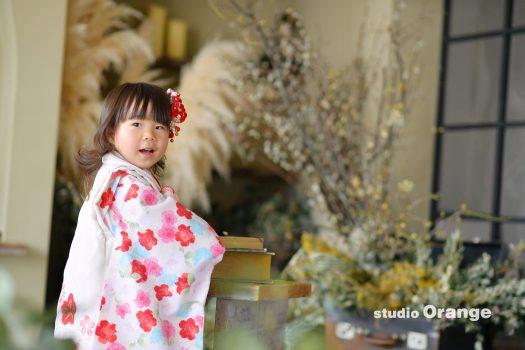 七五三 奈良市 写真館 和装 3歳 女の子