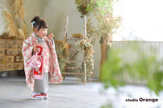 奈良市 写真館 フォトスタジオ 和装 着物 3歳 七五三 753 奈良市 学園前 生駒 大和郡山市 精華町 木津川市
