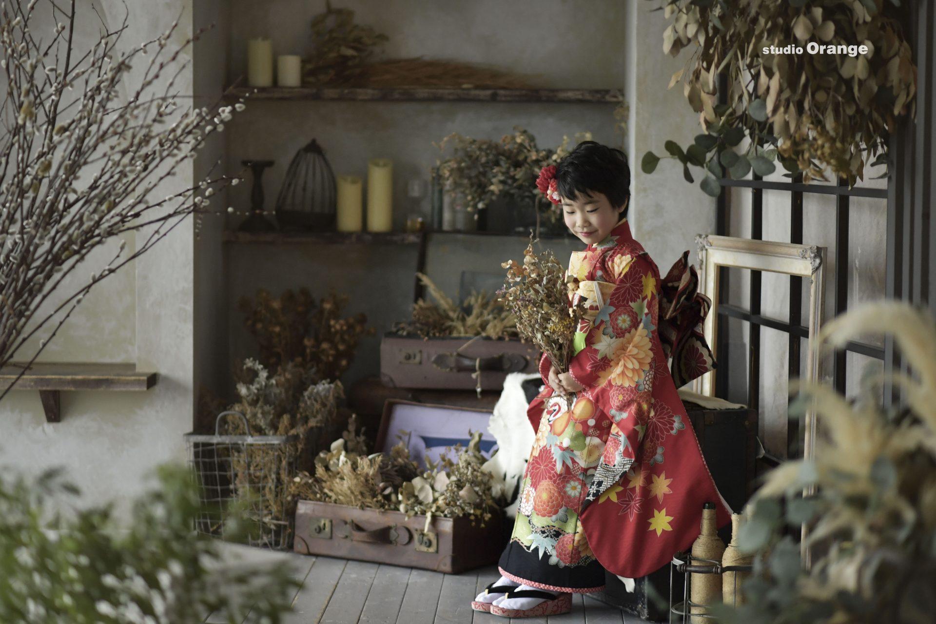 奈良県香芝市 七五三 ショートヘア 橿原神宮にお参り