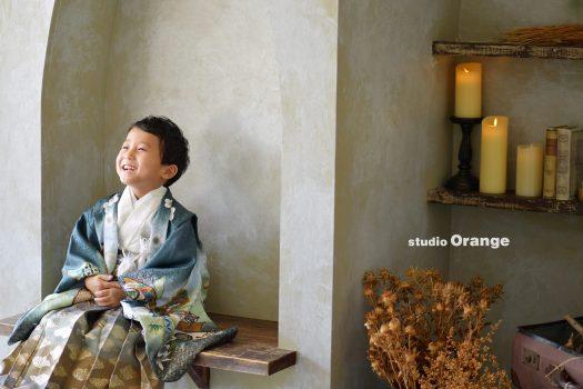 奈良市 写真館 フォトスタジオ 和装 着物 5歳 七五三 753 奈良市 学園前 生駒 大和郡山市 精華町 木津川市