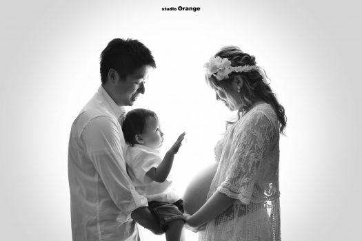 マタニティ ドレス 家族撮影 お兄ちゃん 男の子 女の子 奈良 奈良スタジオ
