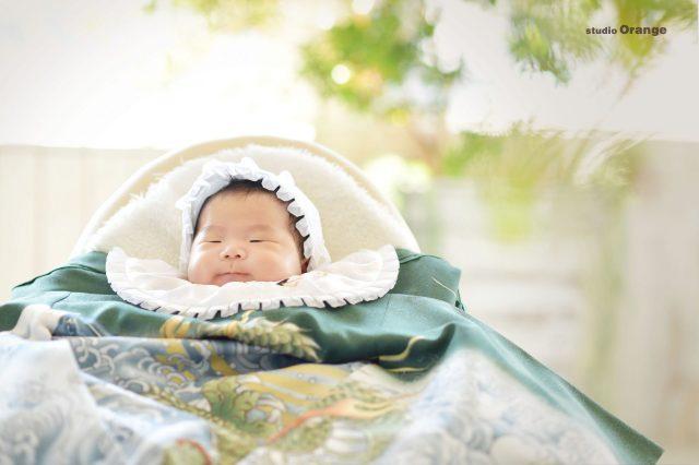 お宮参り 奈良 写真館 男の子 1ヶ月男の子 姉弟 兄弟 兄妹 姉妹 ベビードレス 初着