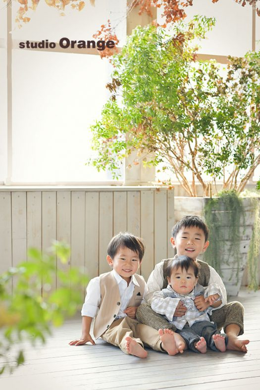 奈良店 フォトスタジオ 写真館 バースデー お誕生日 記念 洋服 スーツ ドレス 私服 兄弟写し