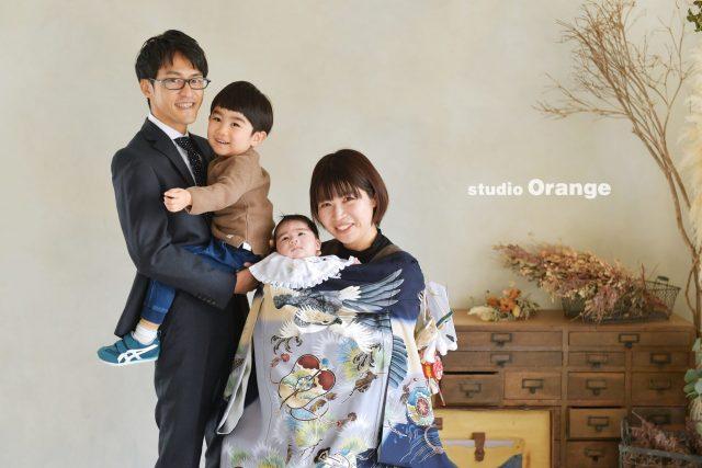 奈良市 お宮参り 家族撮影 写真