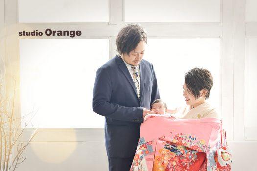 奈良店 フォトスタジオ 写真館 お宮参り 和装 産着 洋装 ベビードレス 家族写し