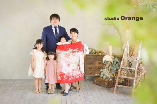 お宮参り 和装 家族写し 着物 フォトスタジオ 奈良店 写真館