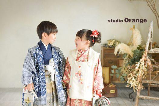 奈良店 七五三 和装 着物 袴 兄弟写し 姉妹写し