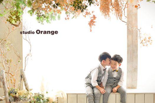 奈良店 フォトスタジオ 写真館 バースデー 誕生日 スーツ 兄弟写し