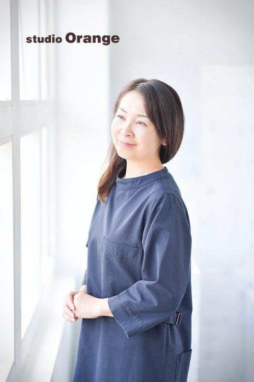 1人写し ポートレート 長寿 フォトスタジオ 奈良店 オレンジ 写真館