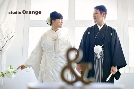 結婚式 ウェディング 和装 袴 白無垢 フォトスタジオ 奈良店 オレンジ