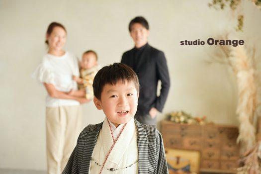 奈良店 フォトスタジオ 写真館 七五三 着物 和装 袴 帯 被布 家族写し