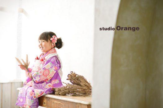 奈良店 フォトスタジオ 写真館 七五三 着物 和装 袴 帯 被布 1人写し