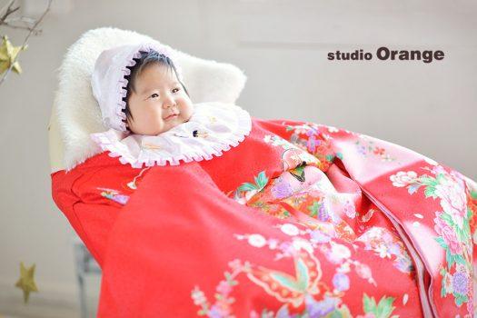奈良店 フォトスタジオ 写真館 お宮参り 1人写し 着物 和装