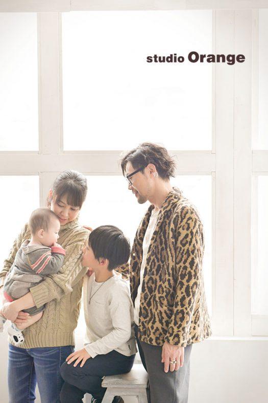 奈良店 フォトスタジオ 写真館 お宮参り 兄弟 姉妹 家族 和装 着物 産着 家族写し