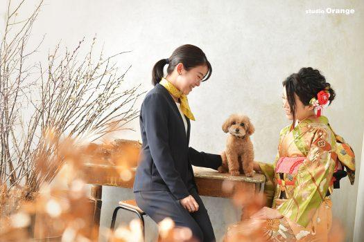 奈良県生駒市 2021年成人式 トイプードル 姉妹撮影 2022年成人式