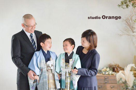 奈良店 フォトスタジオ 写真館 七五三 家族写し 和装 着物 羽織