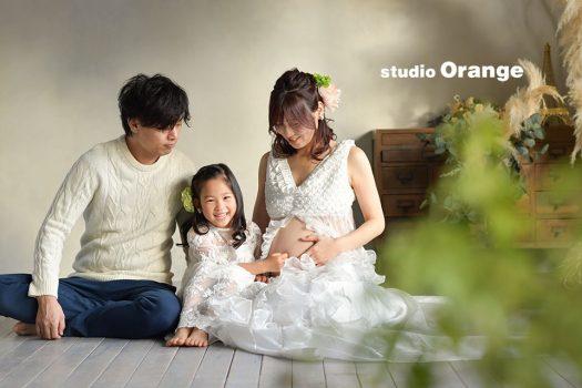 奈良店 フォトスタジオ 写真館 マタニティ 家族写し マタニティドレス