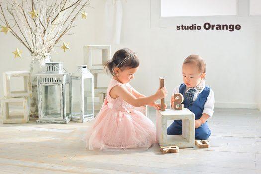 奈良店 フォトスタジオ 写真館 バースデー お誕生日 記念 洋服 スーツ ドレス 私服 姉弟写し