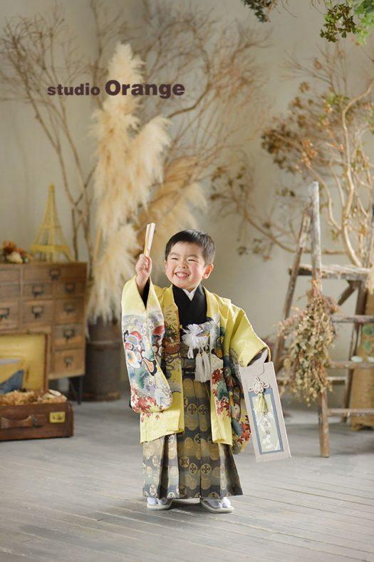 奈良店 フォトスタジオ 写真館 七五三 和装 着物 被布 袴 1人写し