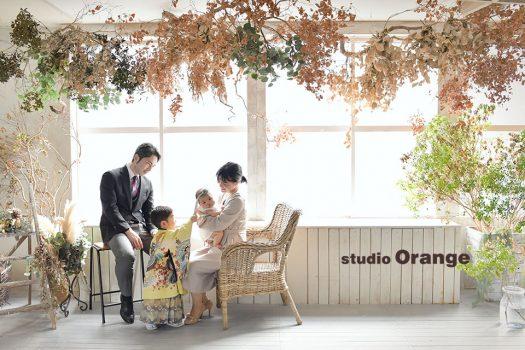 奈良店 フォトスタジオ 写真館 七五三 和装 着物 被布 袴 家族写し