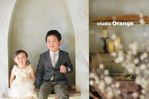奈良店 フォトスタジオ 写真館 バースデー 誕生日 兄妹写し 洋装 ドレス スーツ