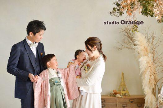 奈良店 フォトスタジオ 写真館 七五三 和装 着物 家族写し 袴 被布