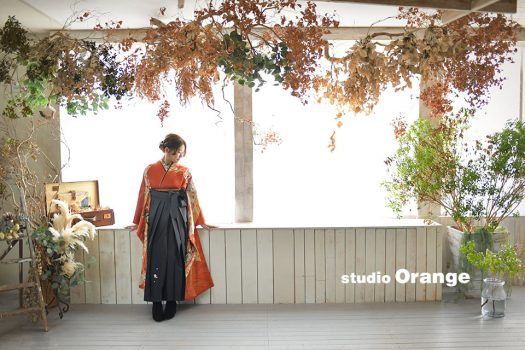 奈良店 フォトスタジオ 写真館 卒業式 袴 和装 女性 1人写し
