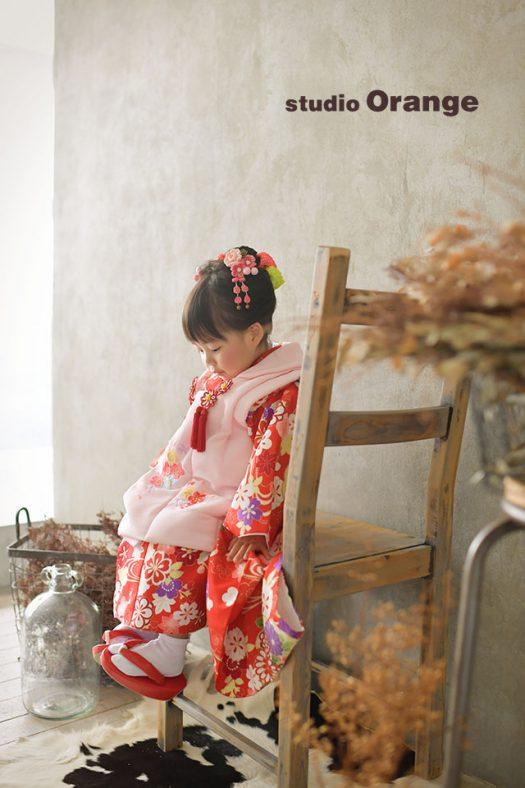 奈良店 フォトスタジオ 写真館 七五三 和装 着物 被布 袴 帯 1人写し