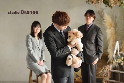 奈良店 フォトスタジオ 写真館 成人式 スーツ 男性 家族写し ペット 犬