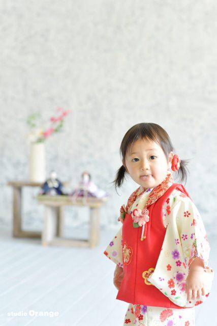 奈良市 桃の節句 1歳女の子 着物