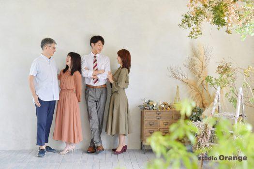 奈良市 写真館 フォトスタジオ 家族写真 家族 大学生 卒業式 入学式