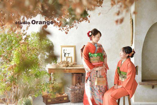 奈良店 フォトスタジオ 写真館 成人式 振袖 姉妹写し