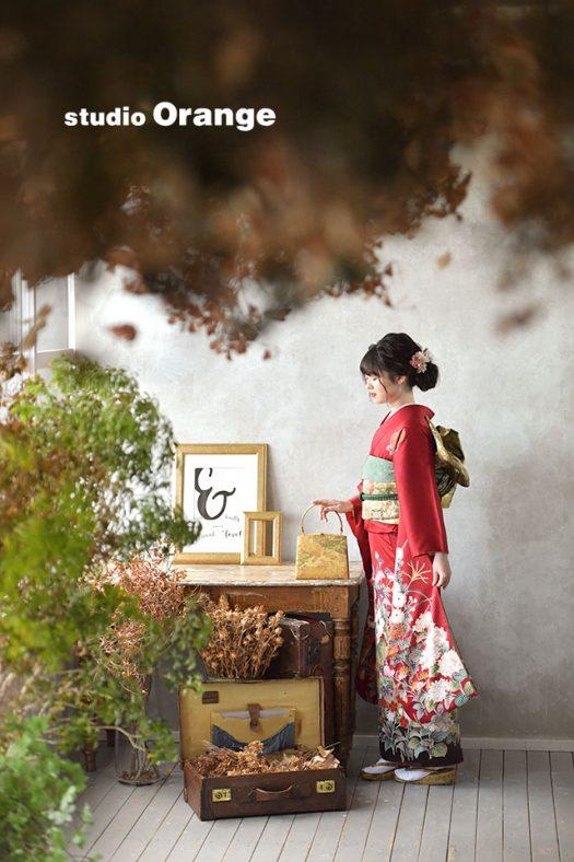 奈良店 フォトスタジオ 写真館 成人式 振袖 1人写し