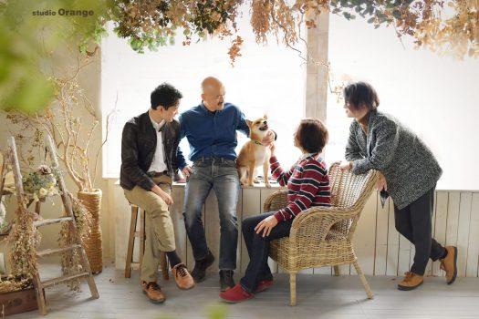 家族写真 奈良 写真館 柴犬 フォトスタジオ 兄弟
