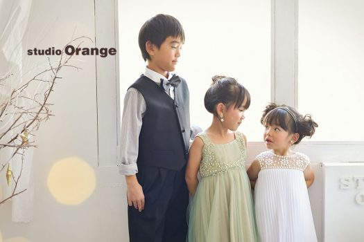 奈良店 バースデー お誕生日 スーツ 洋服 ドレス 裸 姉妹写し