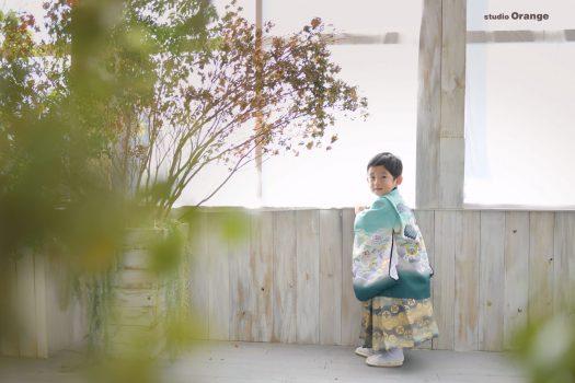 七五三 袴姿 3歳男の子 着物姿