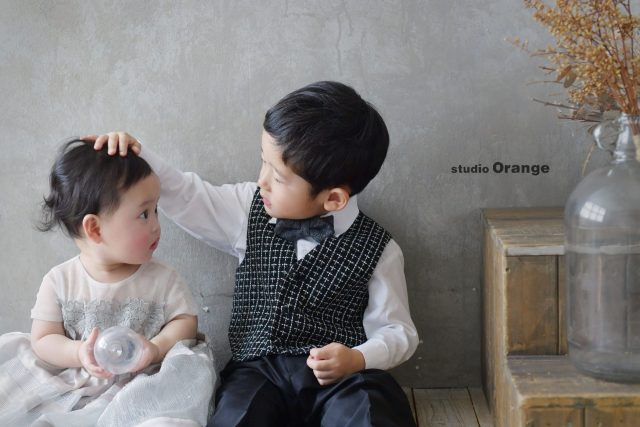 兄妹 2ショット 家族 洋装