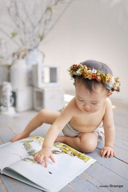 絵本 花かんむり 裸ん坊 はだかんぼ 女の子 赤ちゃん 1歳 1さい 1才