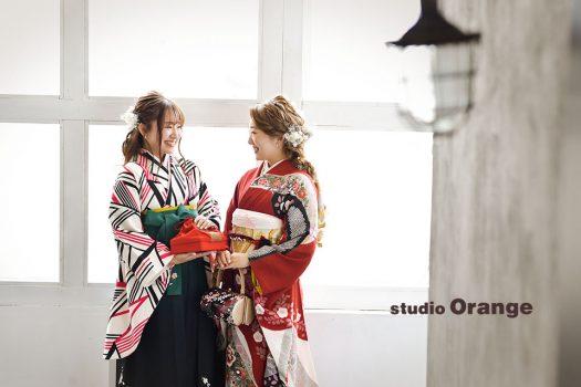 奈良店 フォトスタジオ 写真館 成人式 振袖 袴 姉妹人写し